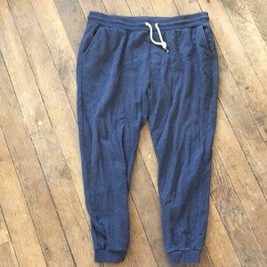 Cotton Blend Drawstring Sweatpants